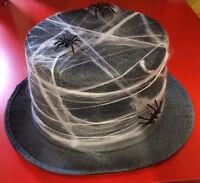 Gothic Ghostly Undertaker Gentleman Top Hat Halloween Gravedigger Spiders Cobweb