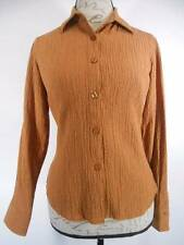 Beautiful Women's PXS Coldwater Creek Brown Textured Gingham Fitted LS Blouse