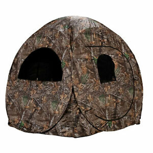 Rhino Blinds R75-RTE Real Tree Edge 1 Person Game Hunting Ground Blind, RealTree
