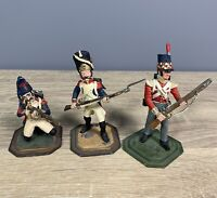 3 x Model Cast Metal Toy Soldiers - Ray Lamb - Military - Napoleonic etc