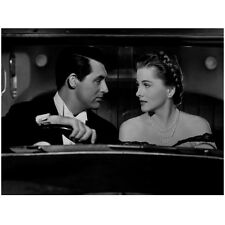 Cary Grant with Woman in Car Holding on to Wheel 8 x 10 Inch Photo