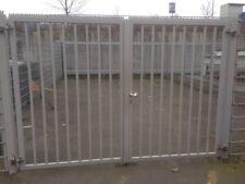 Doppelstabmattenzaun/ Sicherheitszaun, ca. 40 m, gebraucht, mit Flügeltür