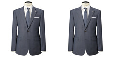 Chester Barrie Pale Blue Prince of Wales Suit Jacket BNWT UK SIze 44L RRP £225
