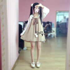 Lolita Retro Kitty Kimono Cosplay Anime Kleid Mädchen khaki Chinesisch Kostüm XL