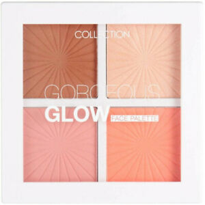 COLLECTION Gorgeous Glow Face Palette - 4 Colour 2x Blush Bronzer Highlighter