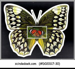 LAOS - 2003 BUTTERFLIES / BUTTERFLY SHAPED Miniature sheet - MINT NH