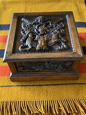 antique Victorian English Oak Humidor