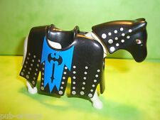 Playmobil: cheval avec parure armure playmobil / horse with finery armor