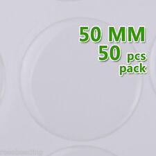 50PCS 50mm Round Transparent Epoxy Domes Resin Cabochon Sticker C1910