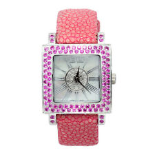Effy Watch Pink Sapphire Diamond 3.37 ct Unisex Luxury New Unique Brand Exotic