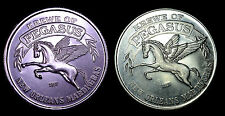 New Orleans Mardi Gras Token Doubloons (2) Krewe Of Pegasus Quest For Freedom.