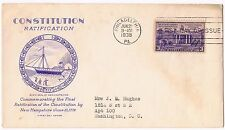 1938 Constitution Ratification 3c Issue 835 FDC Grimsland