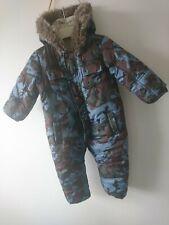 Rocha baby boy camo padded snowsuit 12-18 months VGC