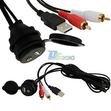 3.5mm USB 2RCA Car Dash Mount AUX Installation Accessories Extension Data Cable