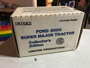 ERTL 1/16 FORD 5000 SUPER MAJOR TRACTOR - NIB - 1988