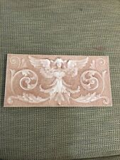 Antique Figural Fireplace Majolica Tile, American Encaustic Tiling Co Pink Angel