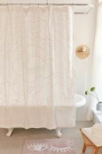 Urban Outfitters Margot Tufted Floral Shower Curtain White Cotton New