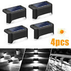 4/8/16 Led Solar Powered Fence Wall Lights Garden Lamp Step Path Decking Outdoor