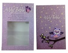 Tommy Nelson NKJV Holy Bible for Girls, Owl on Glittery Appliqued Cloth Cover