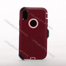 iPhone XR Hard Case w/Holster Belt Clip Fits Otterbox Defender Plum Purple Pink