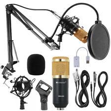 BM-800 USB Kondensator Microphone Mikrofon Kit Komplett Set für Studio Aufnahme
