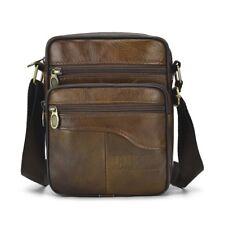 Men Briefcase Single Shoulder Bag Male Retro Crossbody Bag Zipper Messenger Bag