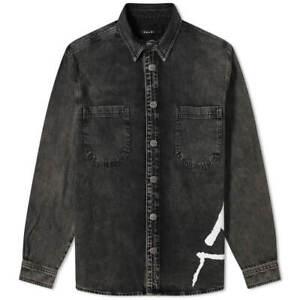 KSUBI DILLON DENIM SHIRT CHARRED - BLACK - MEDIUM - RRP £225.00