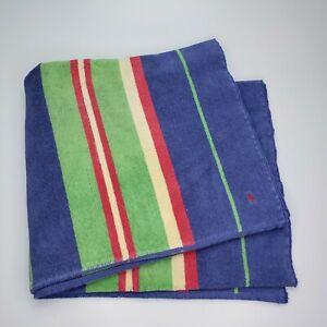 Ralph Lauren Home 36 x 66 Vintage Beach Bath Towel Green Blue Red Yellow Polo