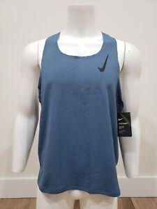 Nike Aeroswift Men's Running Singlet CJ7835-418 Bluish Grey Size XL