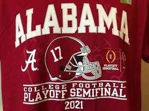 NWT Alabama Crimson Tide Men's 2021 Playoff Semifinal Two Sided T-Shirt Size XL