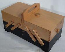 mid century design sewing box - Vintage Nähkasten Utensilienbox Nähkästchen 60er
