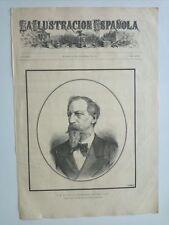 1885 Xilografía: Retrato S.M. El Rey D. Fernando de Portugal