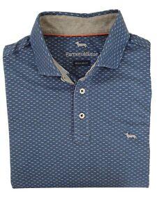 """Harmont & Blaine  MEDIUM  Chest Measures 40""""  Blue  REG FIT Polo Shirt  RRP £169"""