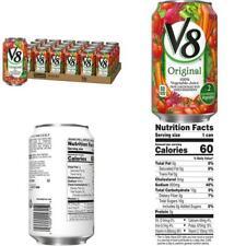 V8 Juice, Original 100% Vegetable Juice, Plant-Based Drink, 11.5 Ounce Can (Pack
