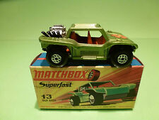 MATCHBOX LESNEY 13 BAJA BUGGY - RARE SELTEN - MINT CONDITION IN BOX