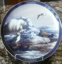 Life in the Arctic North Plate Trevor Swanson Bear Fox Walrus Wolf Danbury Mint