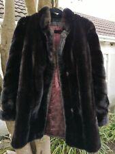 VINTAGE hilmoor Tissavel Corto Marrone Scuro in finta pelliccia di visone 0357db72a56