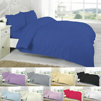 Egyptian Cotton Duvet Cover Set Super King Size Double Single With Pillow Cases