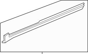 Enclave Traverse Acadia OEM Front Left Rocker Panel Molding GM 20767207