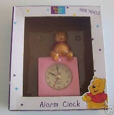 Disney Winnie the Pooh Quartz Mini Alarm Clock Hand Painted