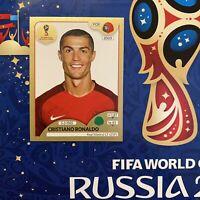 Cristiano Ronaldo Juve Panini # 130 Russia 2018 Swiss Gold Sticker Rare Portugal
