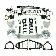 """1955 - 1959 CHEVY TRUCK MUSTANG II FRONT SUSPENSION POWER RACK 2"""" DROP Spin"""