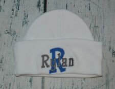 PERSONALIZED Baby Boy Girl Hat Monogrammed Initial and Name Beanie Cap Newborn