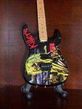 Mini Guitar IRON MAIDEN Eddie KILLERS GIFT Memorabilia FREE STAND Display