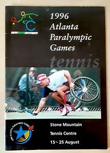ATLANTA 1996 PARALYMPIC GAMES WHEELCHAIR TENNIS PROGRAM IWTF 16 PAGES