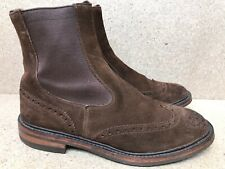 TRICKERS Henry Dealer Suede Chelsea Brown Boots Size UK 9.5 | US 10.5