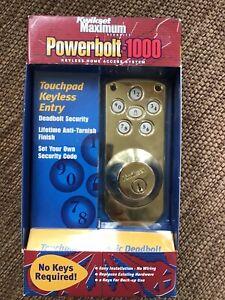 Kwikset POWERBOLT 1000 Home Access System TOUCHPAD Keyless Entry DEADBOLT