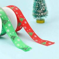 Merry Christmas DIY Grosgrain Ribbon Christmas Tree Gift Packing Crafts Decor