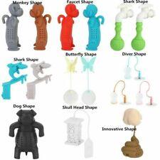 Silicone Cartoon Loose Tea Leaf Spice Filter Tea Bag Infuser Strainer Diffusers