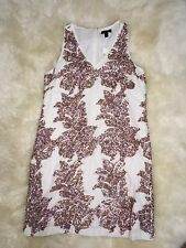 New Women's J Crew Ivory White Linen Sequin Shift Dress C7916 Size 10 SOLD OUT!